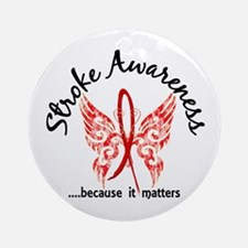 Stroke Butterfly 6.1 Ornament (Round)