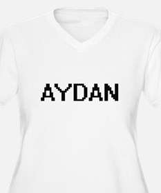 Aydan Digital Name Design Plus Size T-Shirt