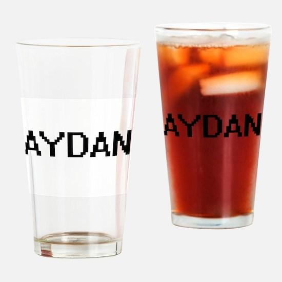 Aydan Digital Name Design Drinking Glass