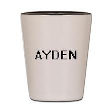 Ayden Digital Name Design Shot Glass