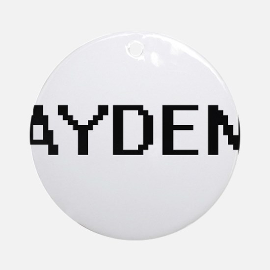 Ayden Digital Name Design Ornament (Round)