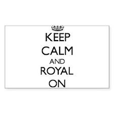 Keep Calm and Royal ON Decal