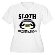 SLOTH RUNNING TEAM, LETS NAP INSTEAD Plus Size T-S