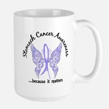Stomach Cancer Butterfly 6.1 Large Mug