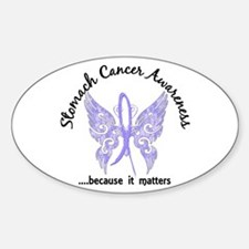 Stomach Cancer Butterfly 6.1 Sticker (Oval)