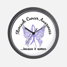 Stomach Cancer Butterfly 6.1 Wall Clock