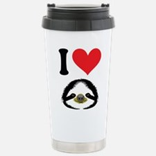 I HEART SLOTH Travel Mug