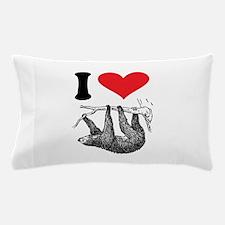 I HEART SLOTH Pillow Case
