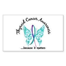 Thyroid Cancer Butterfly 6.1 Decal
