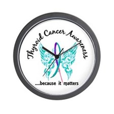 Thyroid Cancer Butterfly 6.1 Wall Clock
