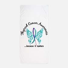 Thyroid Cancer Butterfly 6.1 Beach Towel