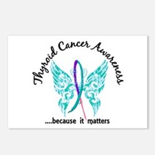 Thyroid Cancer Butterfly Postcards (Package of 8)