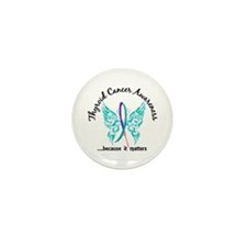Thyroid Cancer Butterfly 6.1 Mini Button (10 pack)