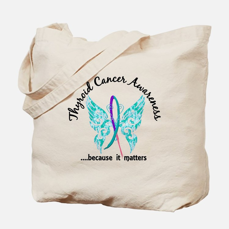 Thyroid Cancer Butterfly 6.1 Tote Bag