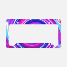 Blue n pink Whirlpool License Plate Holder