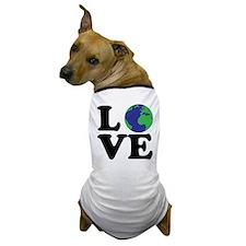 I Love Earth Dog T-Shirt