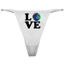 I Love Earth Classic Thong