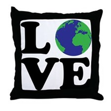 I Love Earth Throw Pillow