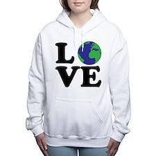 I Love Earth Women's Hooded Sweatshirt