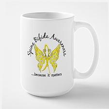 Spina Bifida Butterfly 6.1 Large Mug