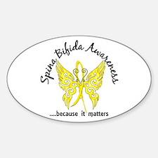 Spina Bifida Butterfly 6.1 Sticker (Oval)