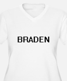 Braden Digital Name Design Plus Size T-Shirt