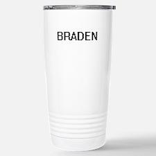 Braden Digital Name Des Stainless Steel Travel Mug