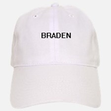 Braden Digital Name Design Baseball Baseball Cap