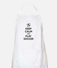 Keep Calm And Play Soccer Apron