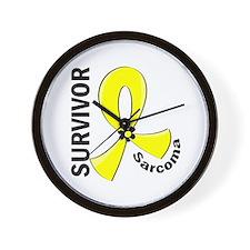 Sarcoma Survivor 12 Wall Clock