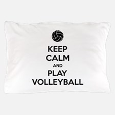 Keep Calm And Play Volleyball Pillow Case