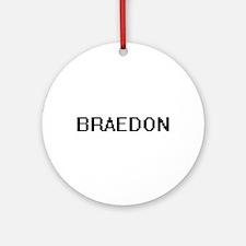 Braedon Digital Name Design Ornament (Round)