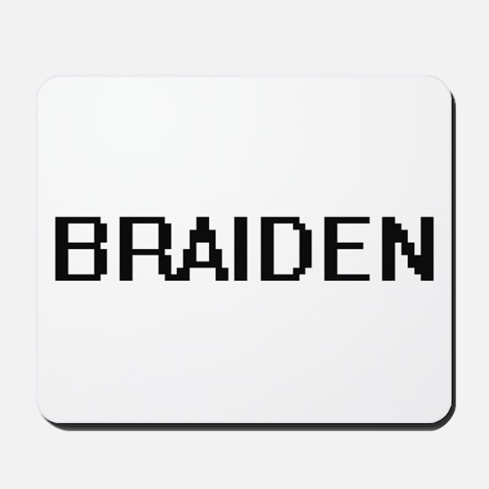 Braiden Digital Name Design Mousepad