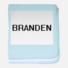 Branden Digital Name Design baby blanket