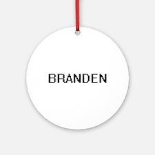 Branden Digital Name Design Ornament (Round)