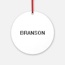 Branson Digital Name Design Ornament (Round)
