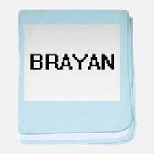 Brayan Digital Name Design baby blanket