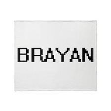 Brayan Digital Name Design Throw Blanket