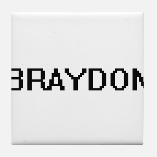 Braydon Digital Name Design Tile Coaster