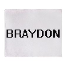 Braydon Digital Name Design Throw Blanket