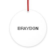 Braydon Digital Name Design Ornament (Round)