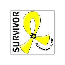 """Adenosarcoma Survivor 12 Square Sticker 3"""" x 3"""""""