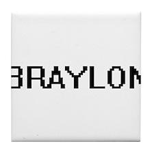 Braylon Digital Name Design Tile Coaster