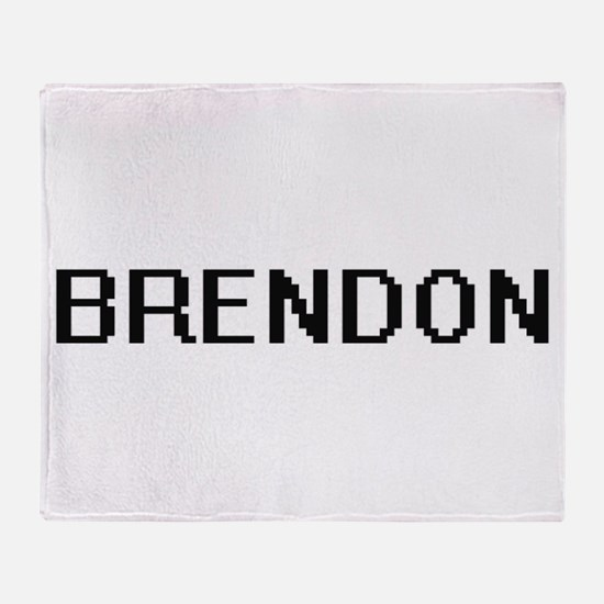 Brendon Digital Name Design Throw Blanket