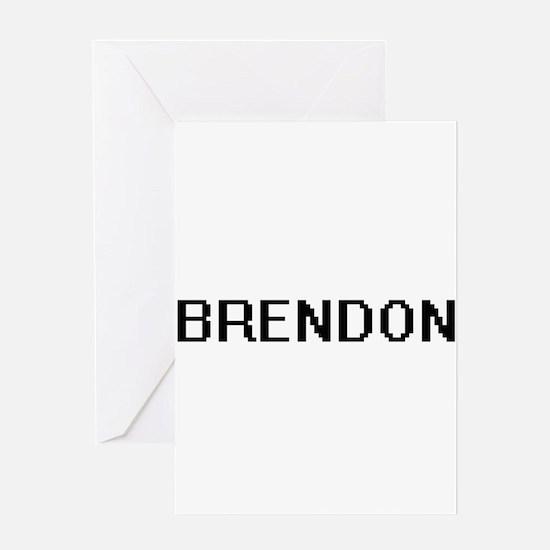 Brendon Digital Name Design Greeting Cards