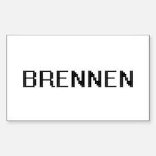 Brennen Digital Name Design Decal