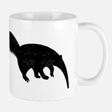 Distressed Anteater Silhouette Mugs