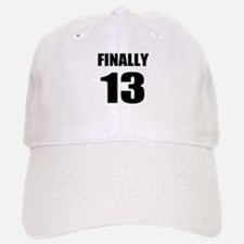 13th Birthday Humor Baseball Baseball Cap