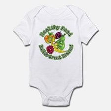 Healthy Food Builds Great Brains! Infant Bodysuit