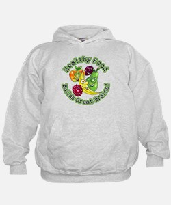 Healthy Food Builds Great Brains! Hoodie